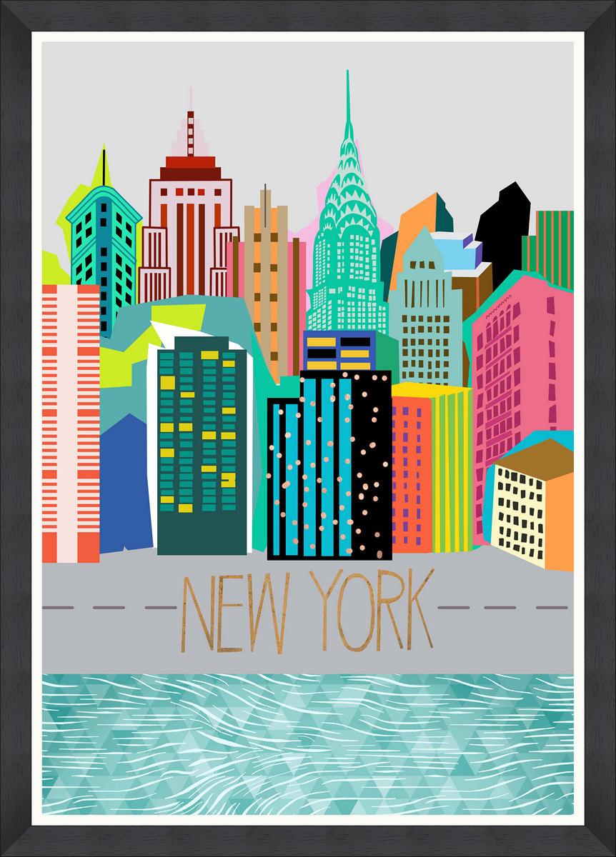 COLOURS OF NY Framed Print