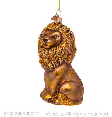Glass Sitting Lion Bauble