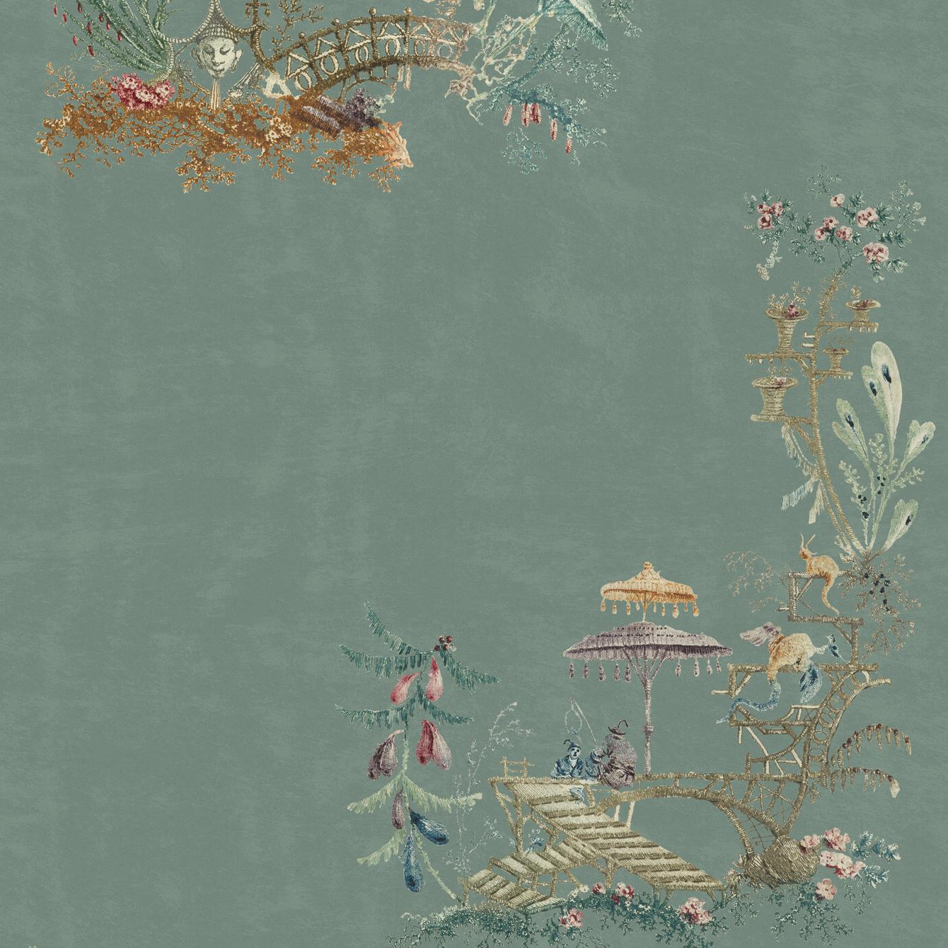 CHINOISERIE Blue Wallpaper