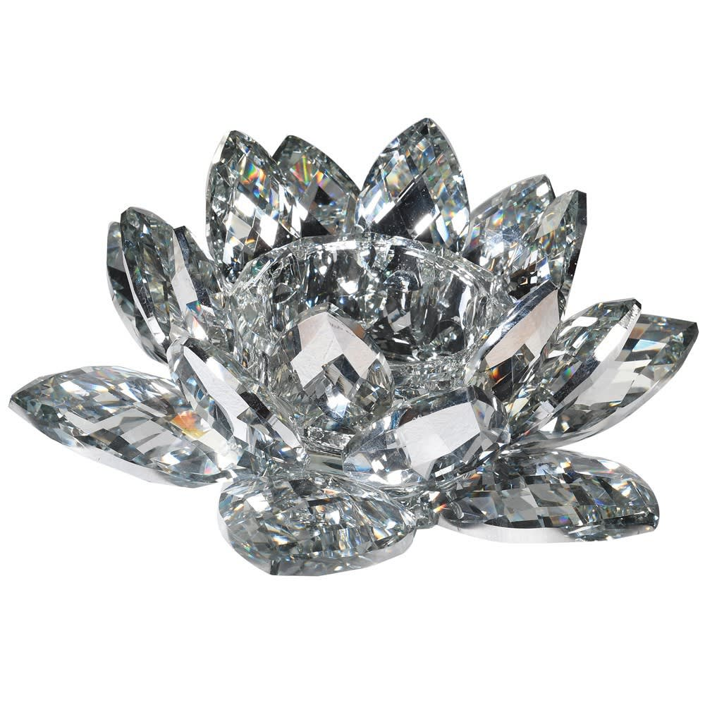 Crystal Lotus Candle Holder