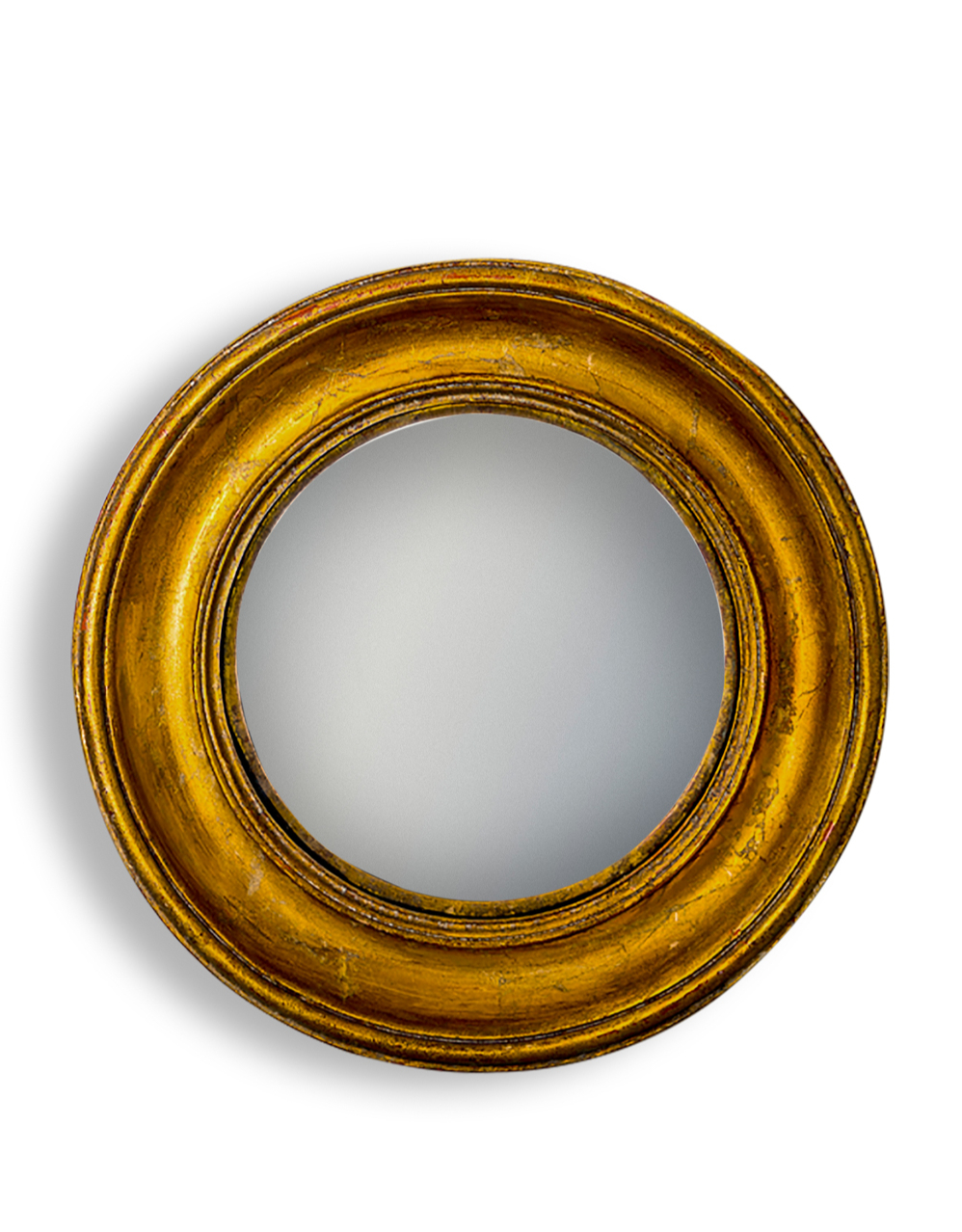 Gold Deep Framed Large Convex Mirror