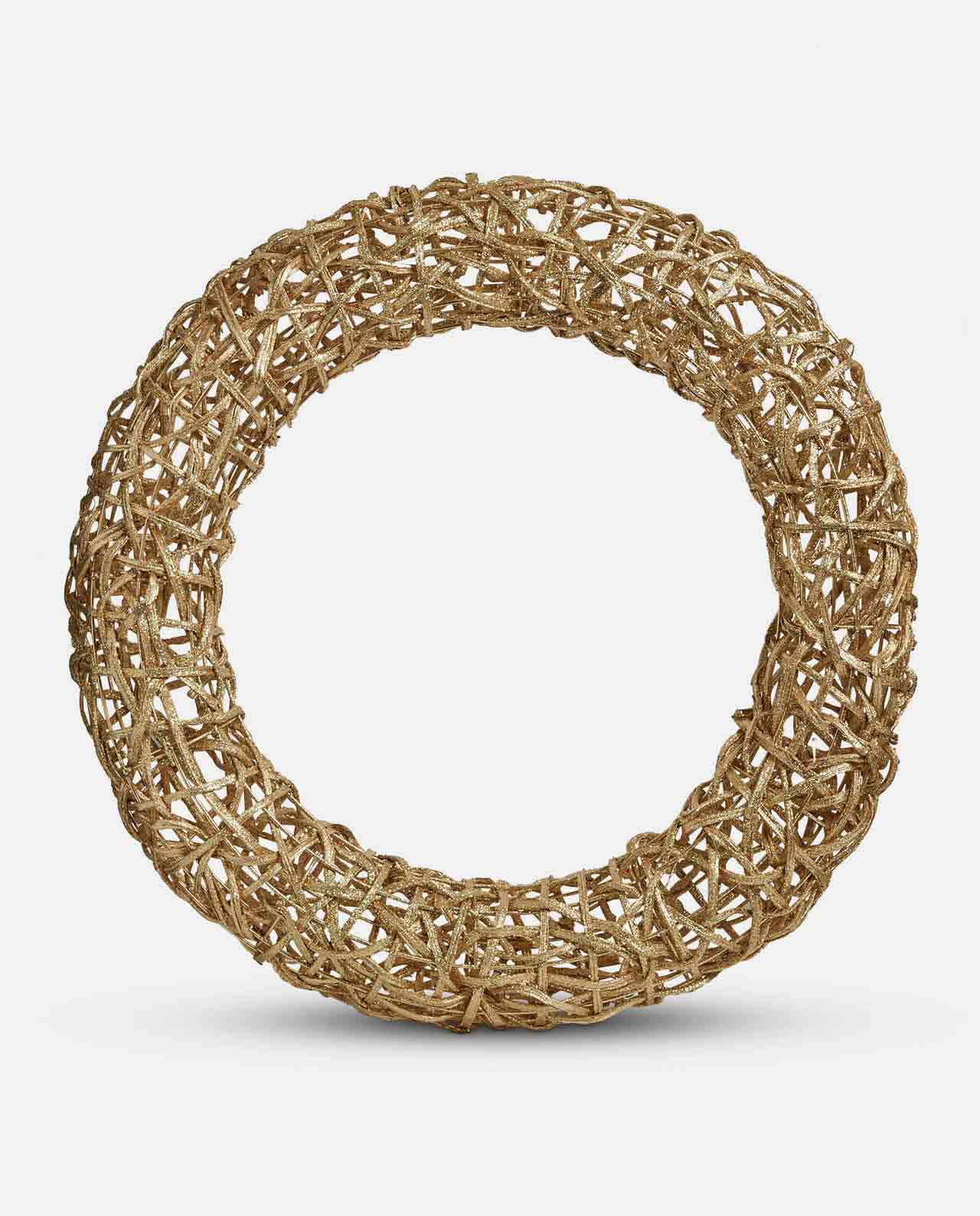 Extra Large Gold Rattan Wreath