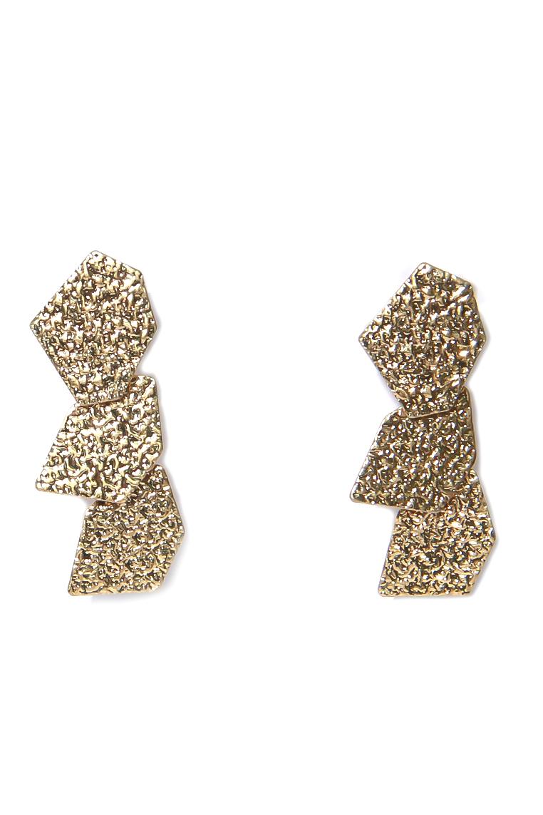 Three Drop Gold Earing