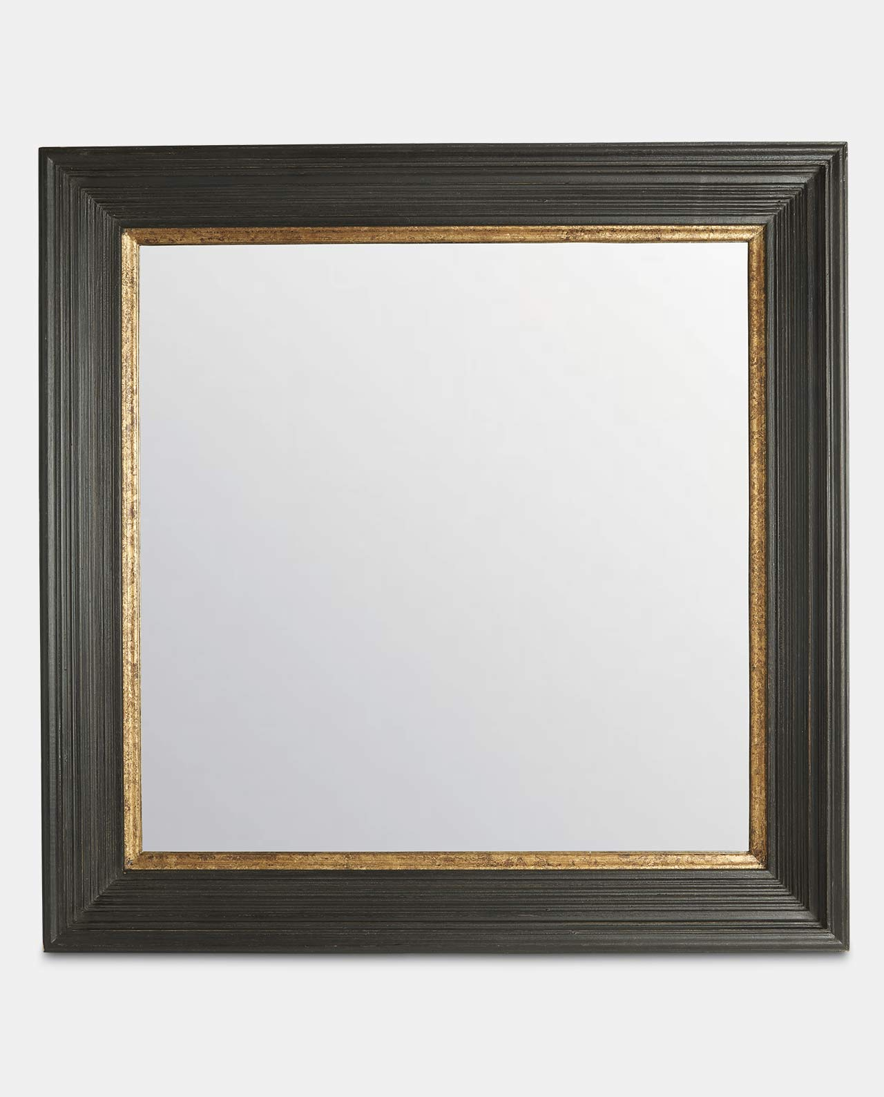Altair Square Black & Gold Mirror 89cm