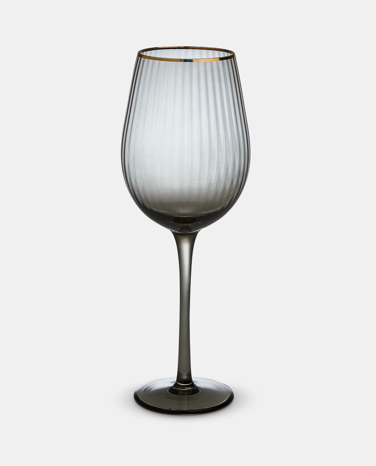 Italia Smoked Wine Glass