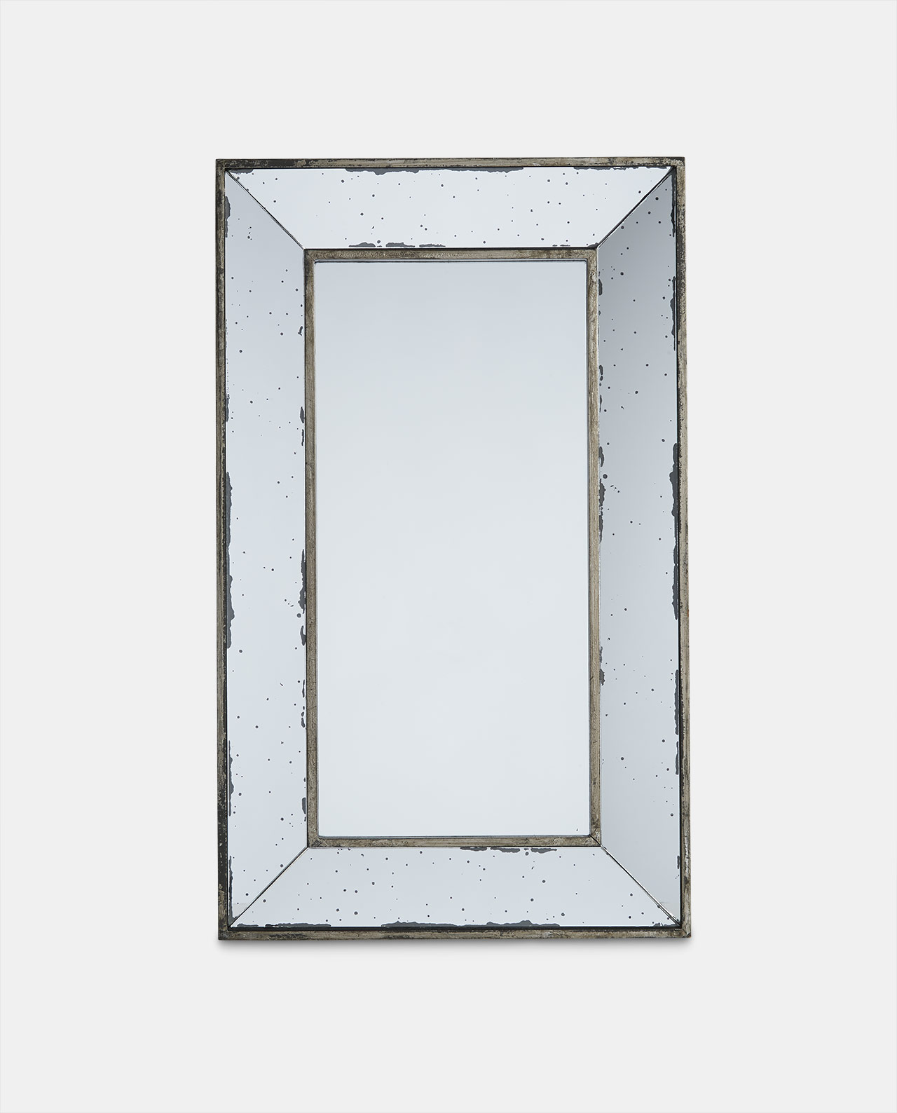 Layered Glass Rectangular Mirror