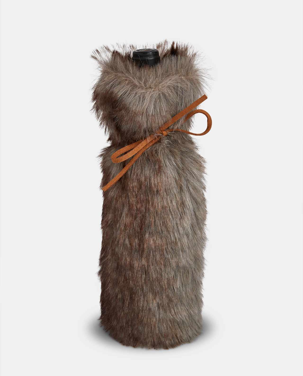 Faux Fur Bottle Holder