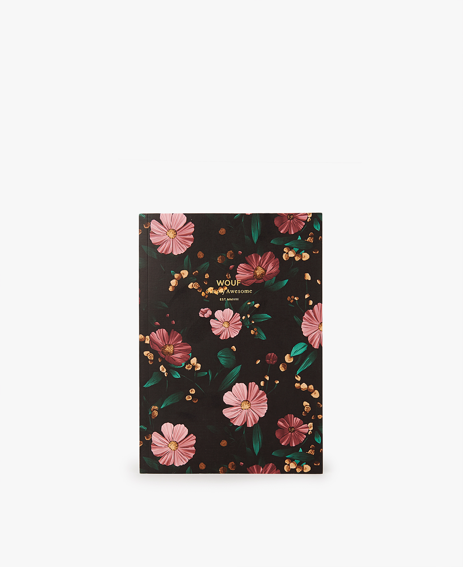 Black Flowers A5 Notebook