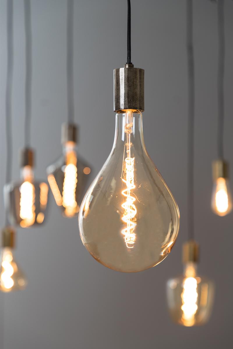 LED Amber Deco Drop Bulb