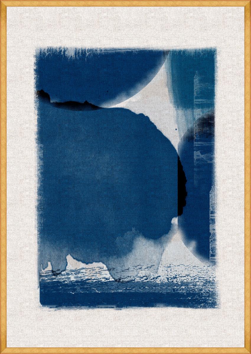 INDIGO MARVEL I Framed Art