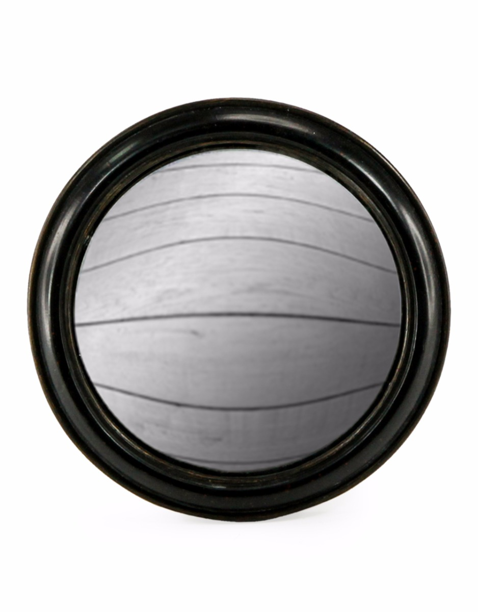 Black Framed Convex Mirror