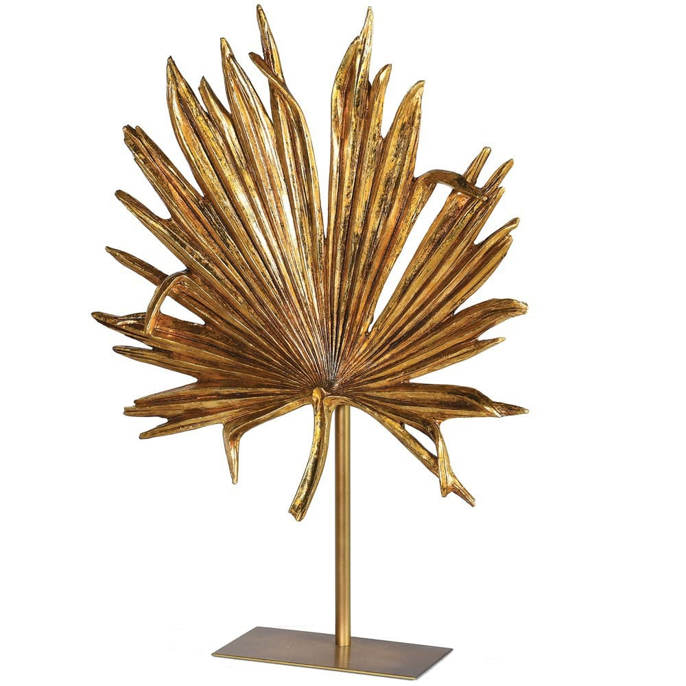 Golden Palm Tree Decoration On Stand