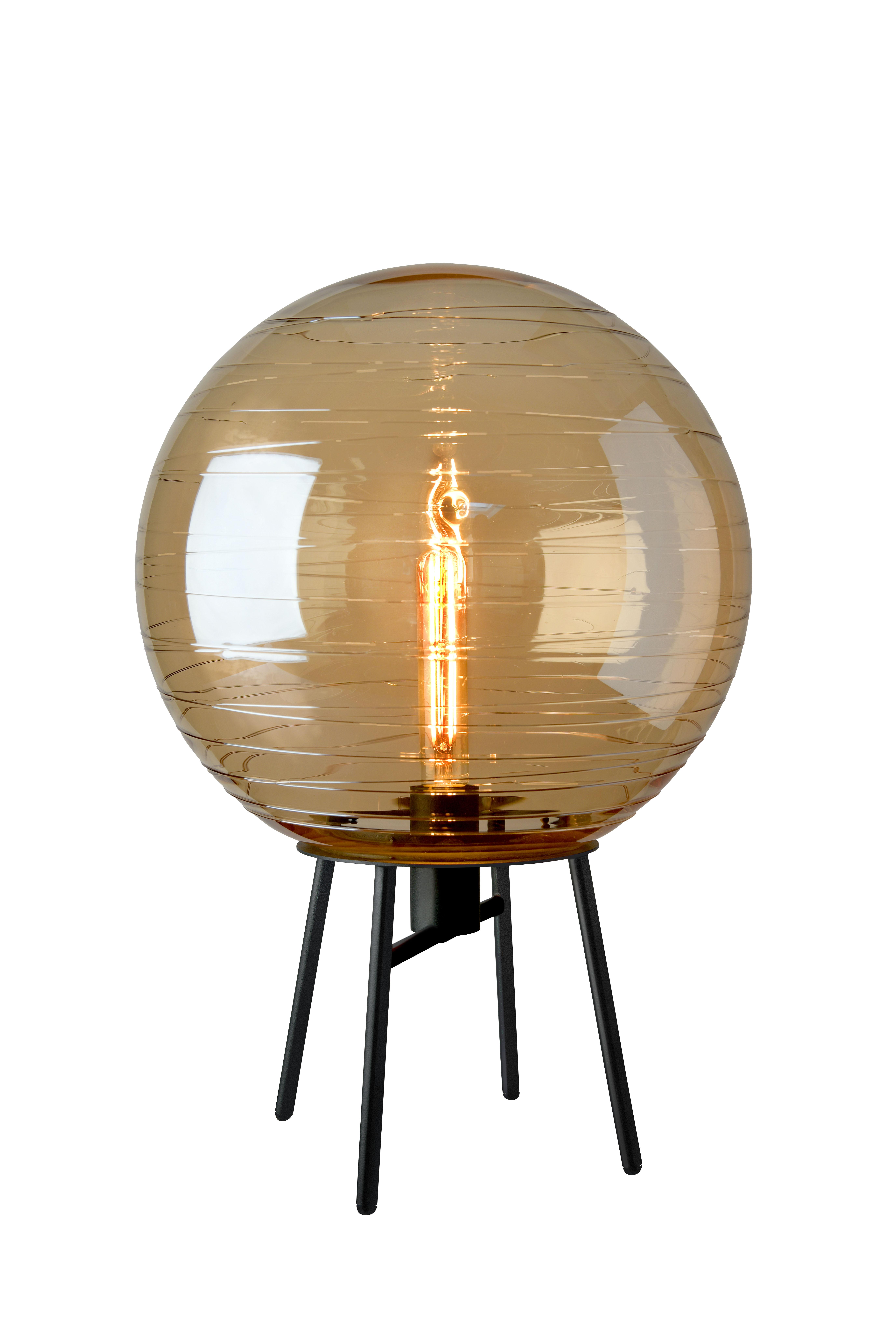 Orbit Amber Table Lamp
