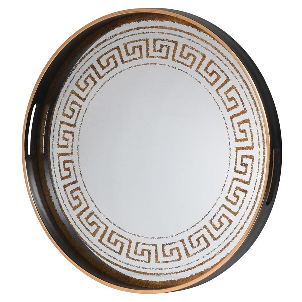 Greek Pattern Mirrored Tray