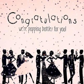 Congratulations Popping Bottles