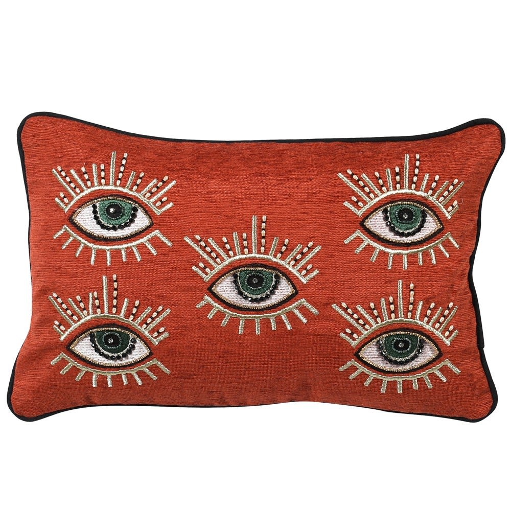 Rust Multi Eye Cushion