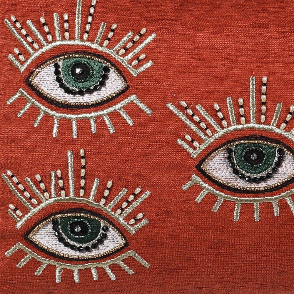 Rust Multi Eye Cushion