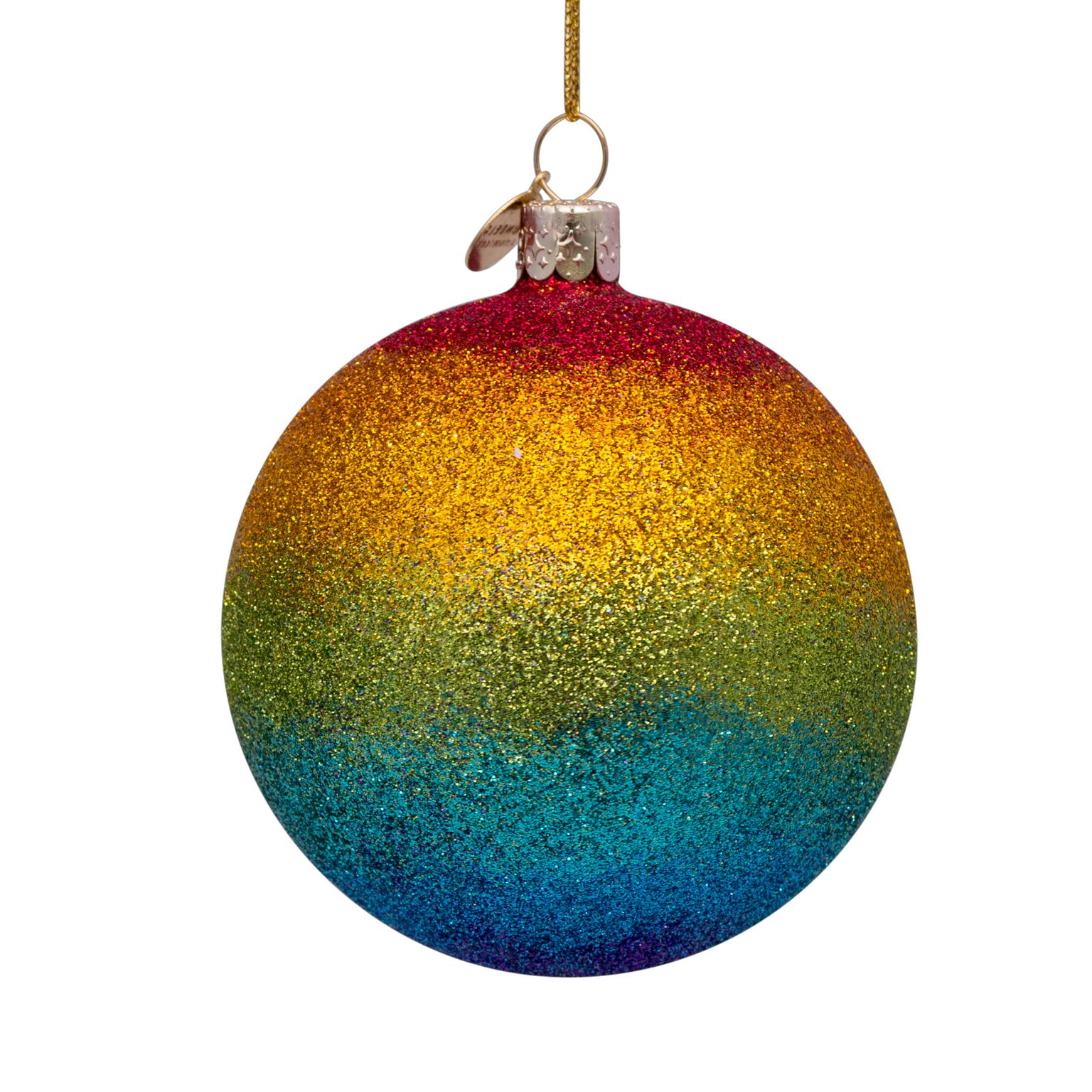 Glitter Rainbow Bauble