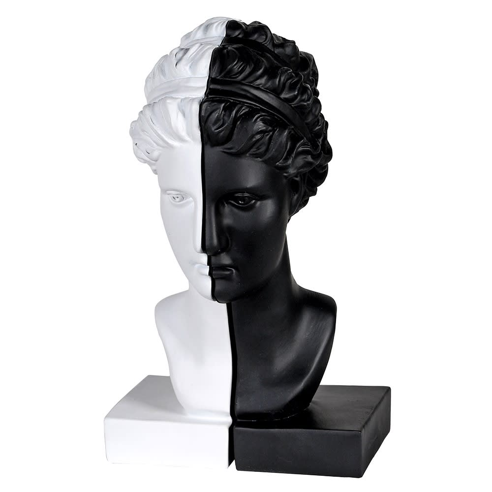 Classical Black & White Bookends - Female