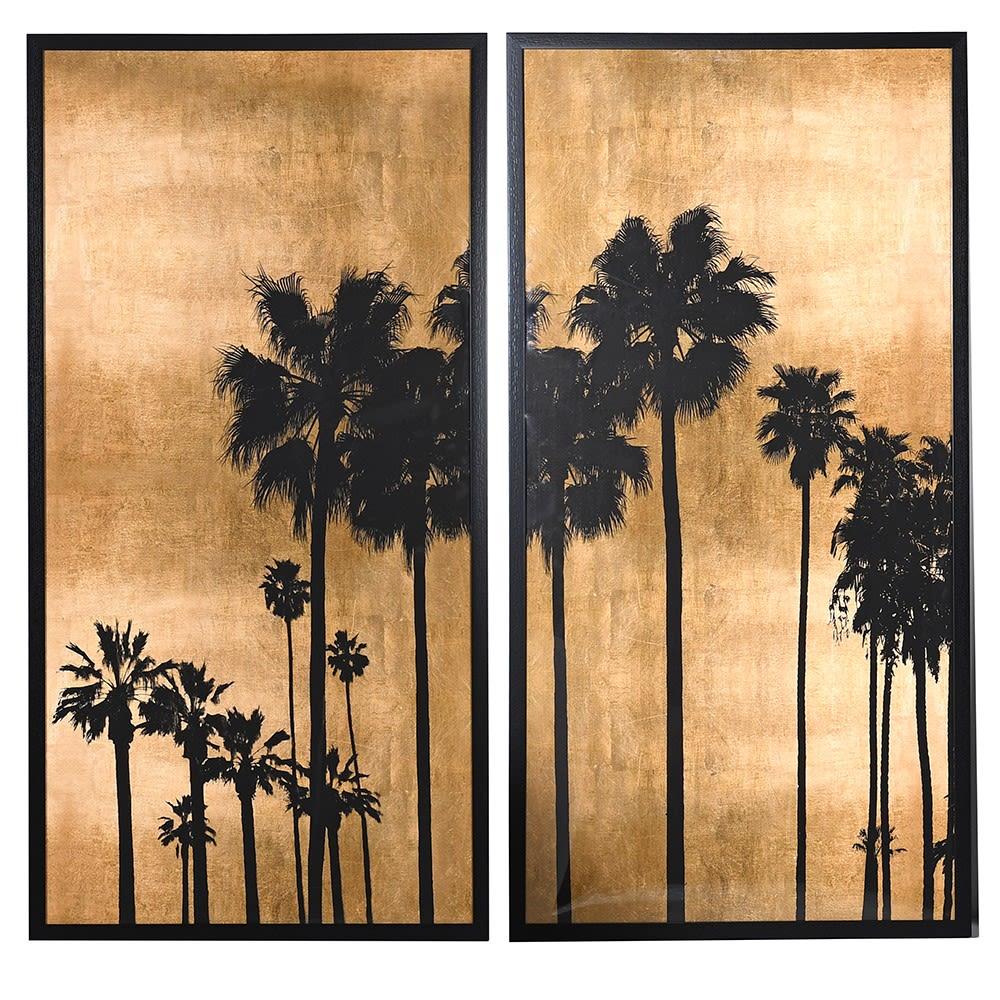 Boulevard Palms set of two prints