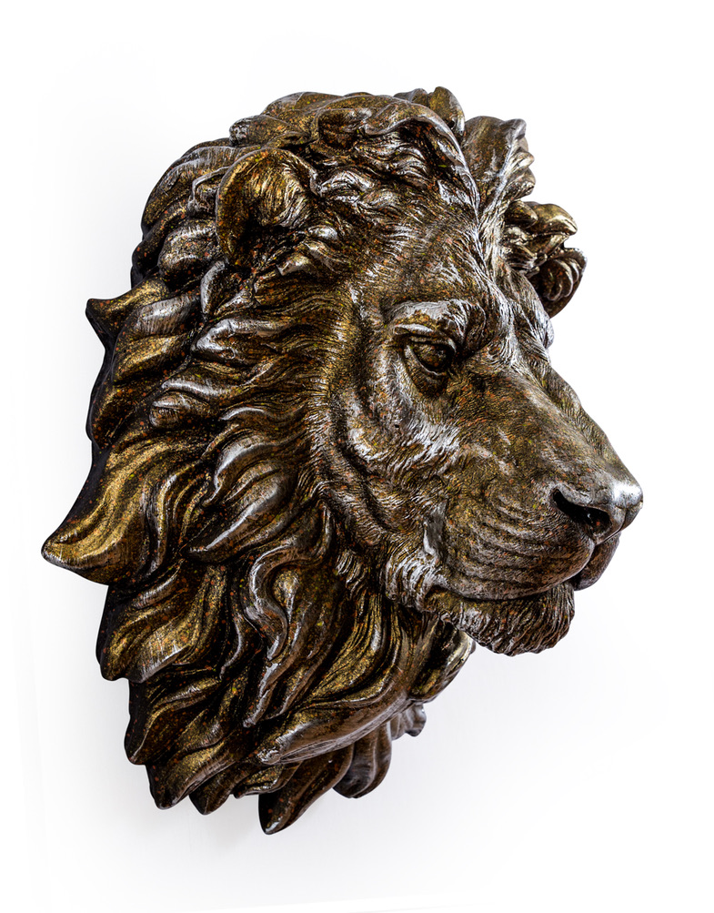 Large Antique Effect Lion Head