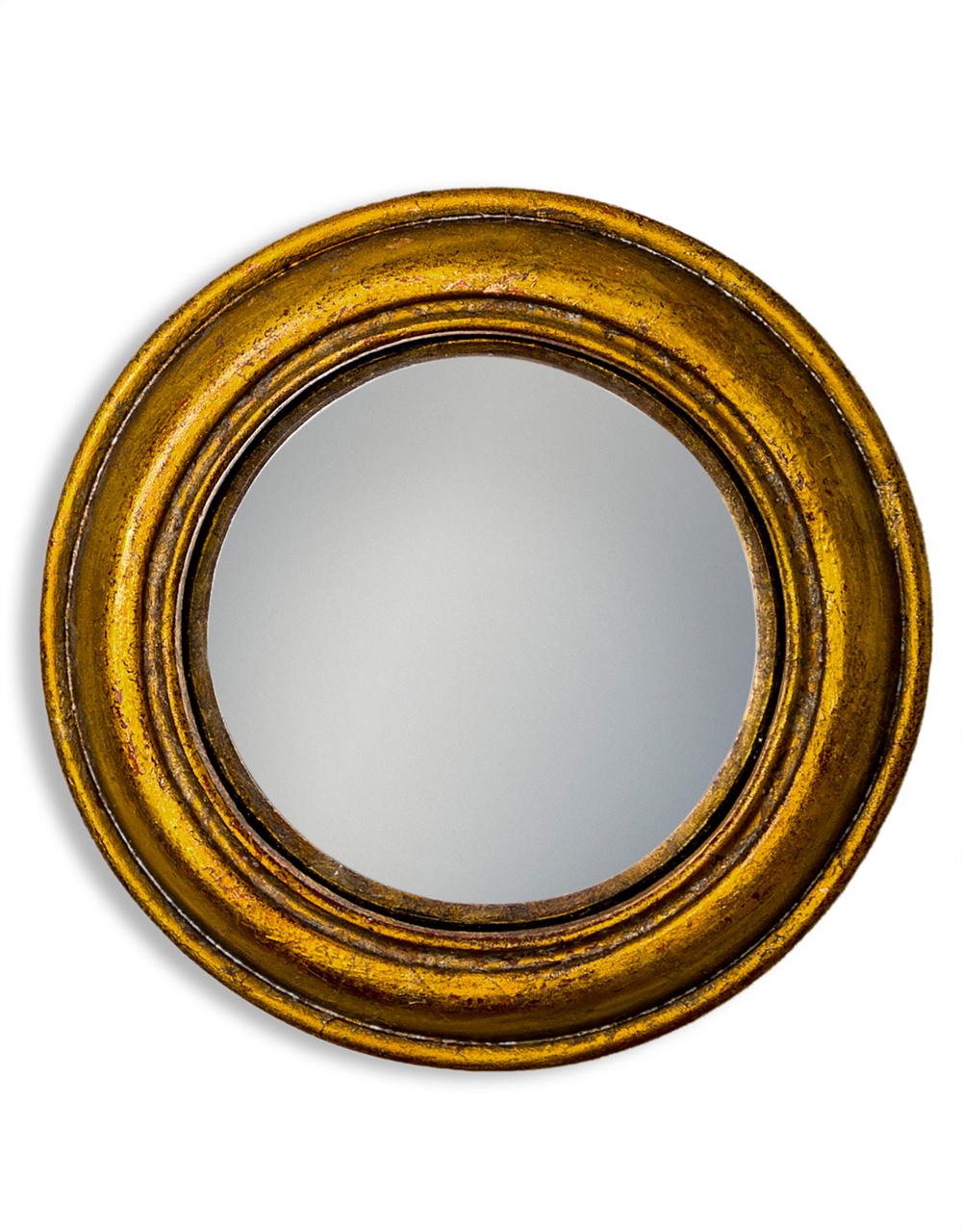 Gold Rounded Small Convex Mirror