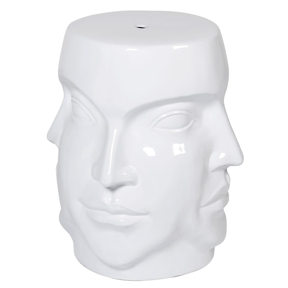 Ceramic Four Faces Stool