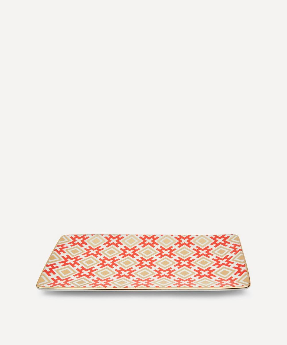 David Hicks Trinket Tray - Reds