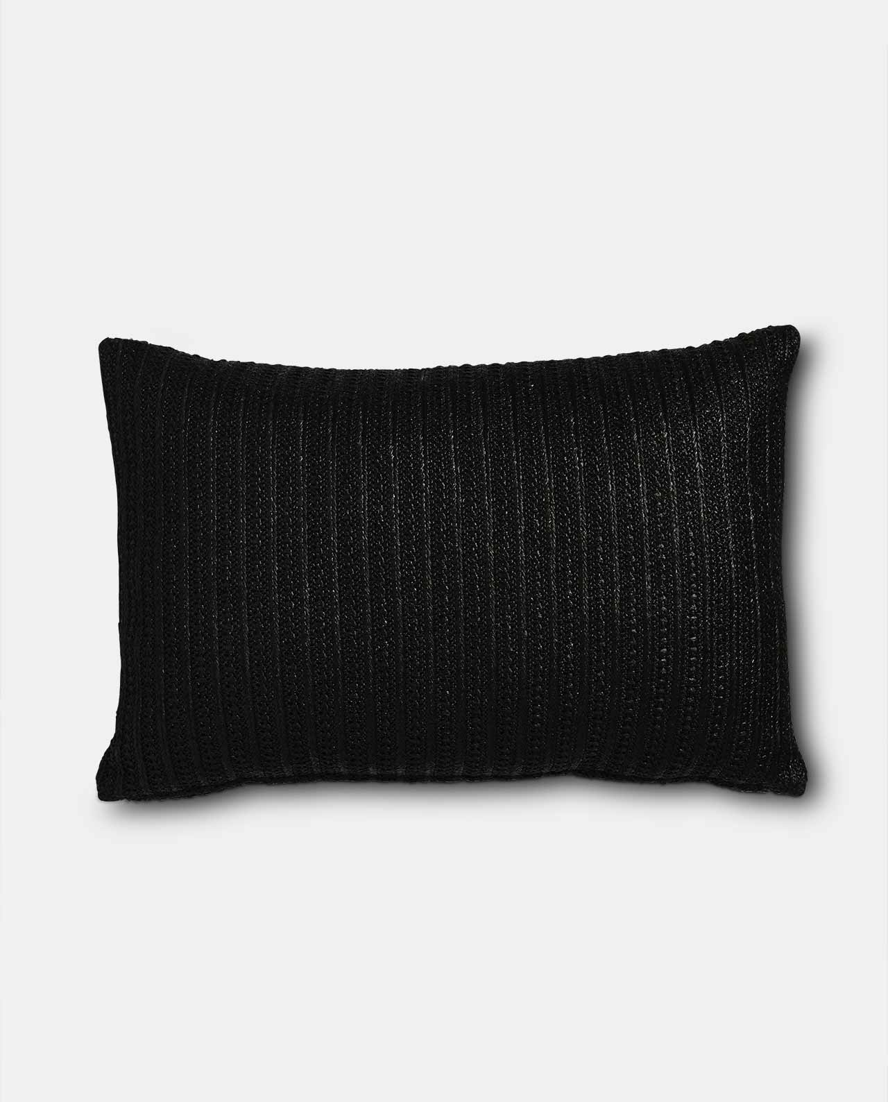 Black Jute Cushion Cover 40x60cm