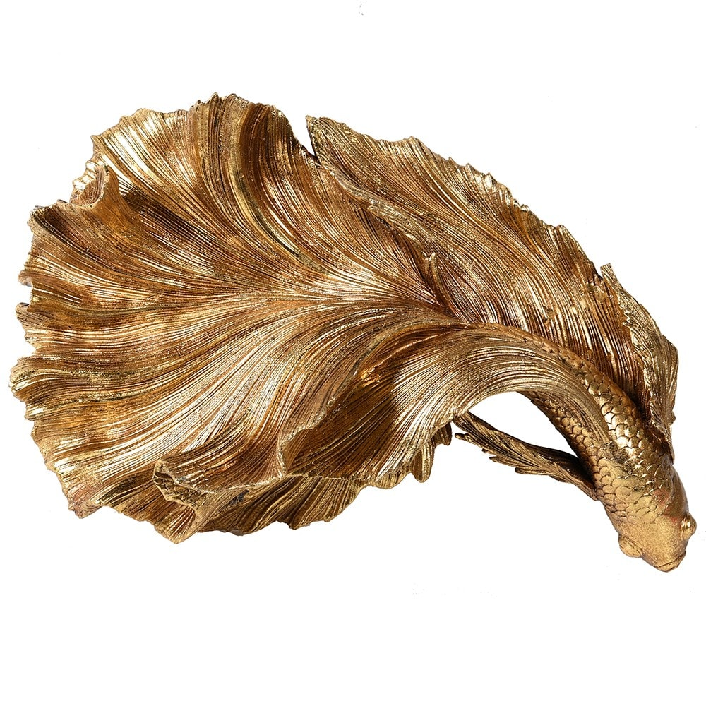 Gold Fantail Fish Wall Decoration