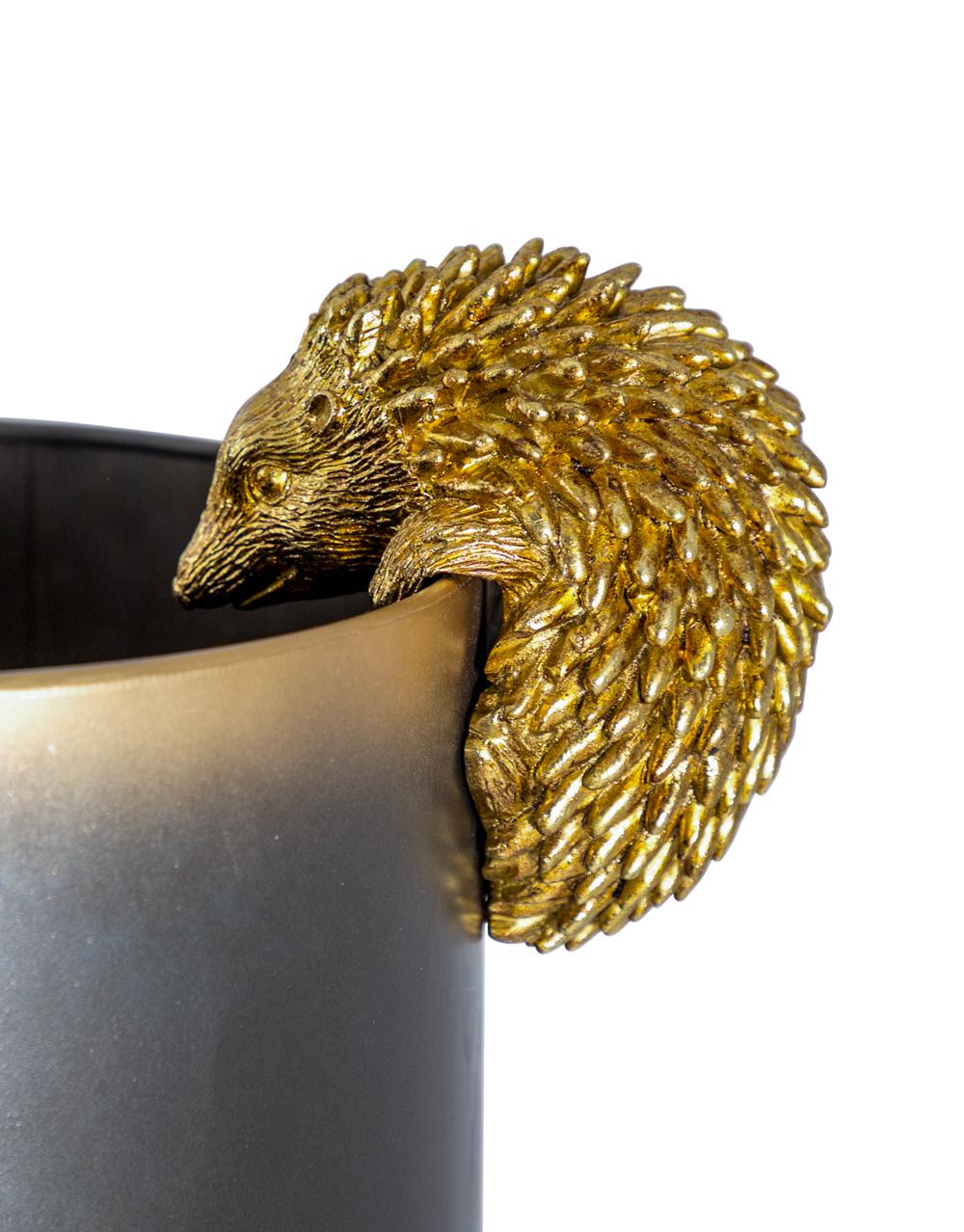 Gold Hanging Hedgehog