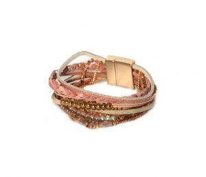 Pink/Gold Multi Bracelet
