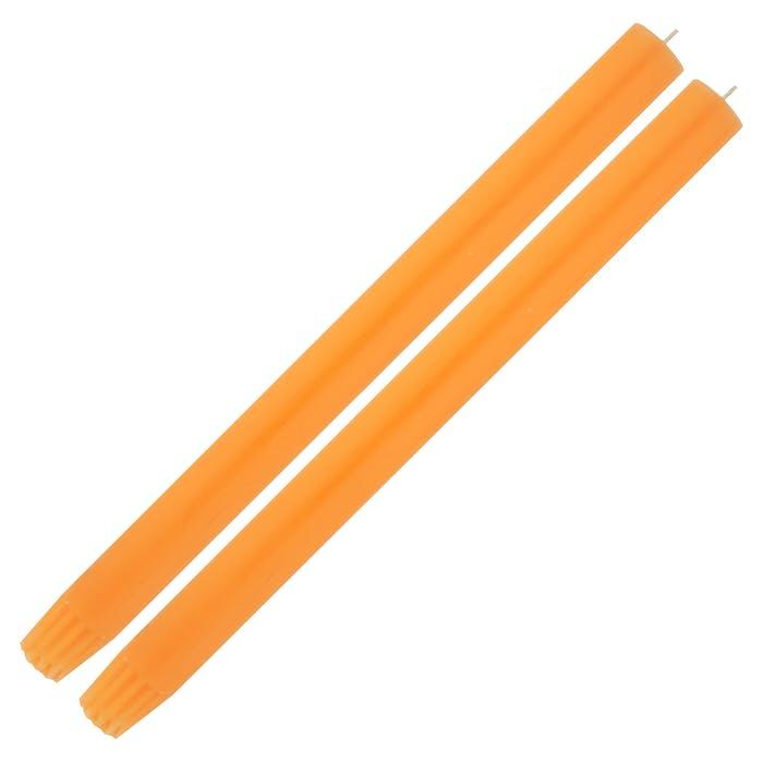 Single Fluro Orange Dinner Candle