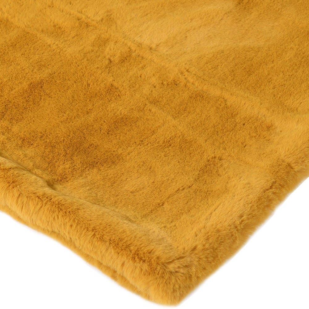 Golden Faux Fur Throw