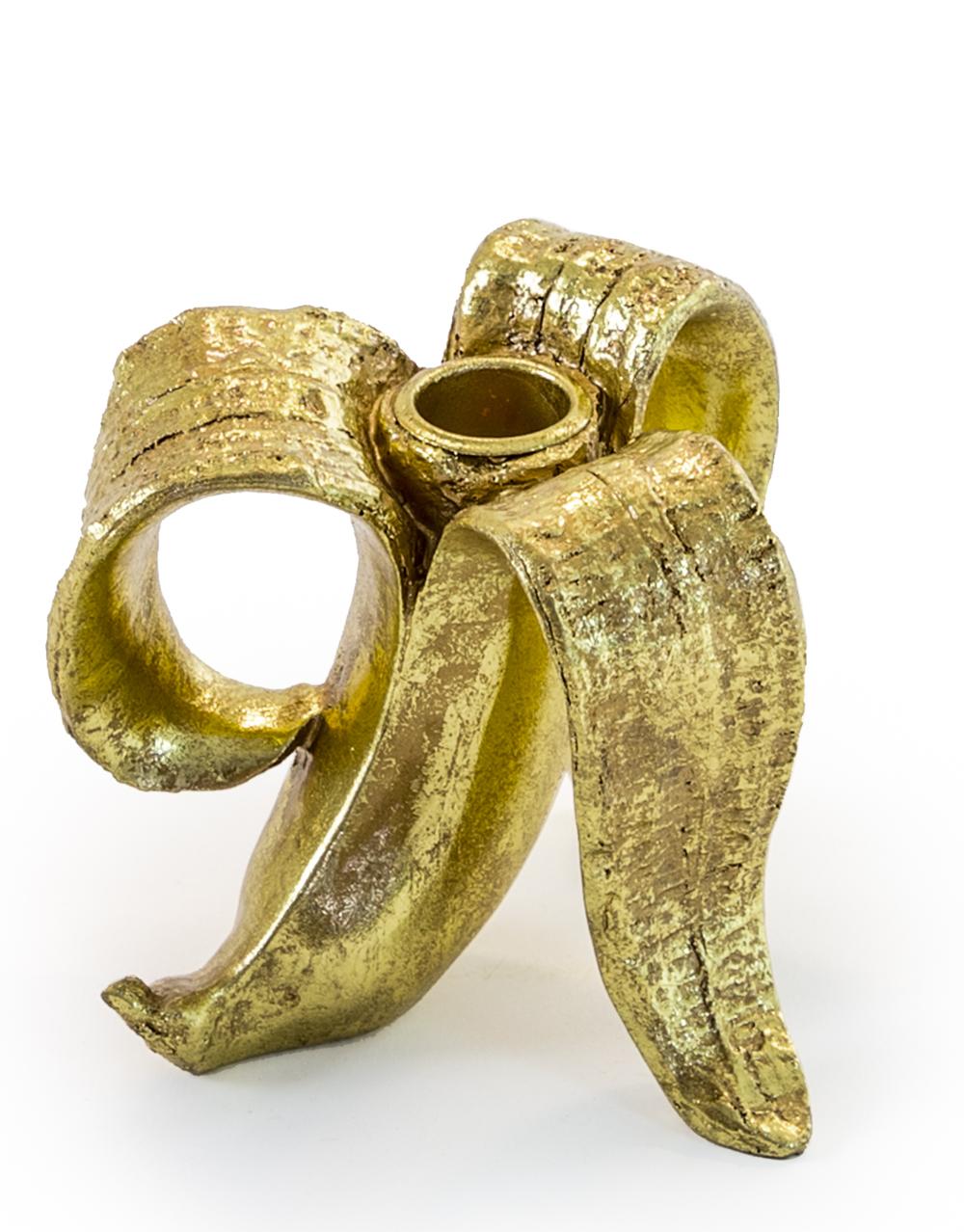 Gold Glam Banana Candle Holder