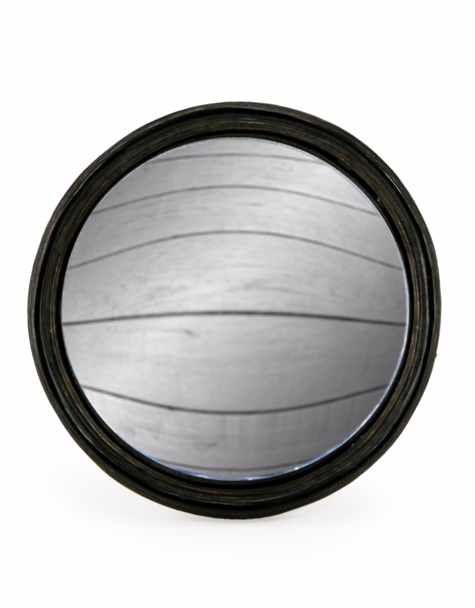 Black Thin Framed Convex Mirror Large