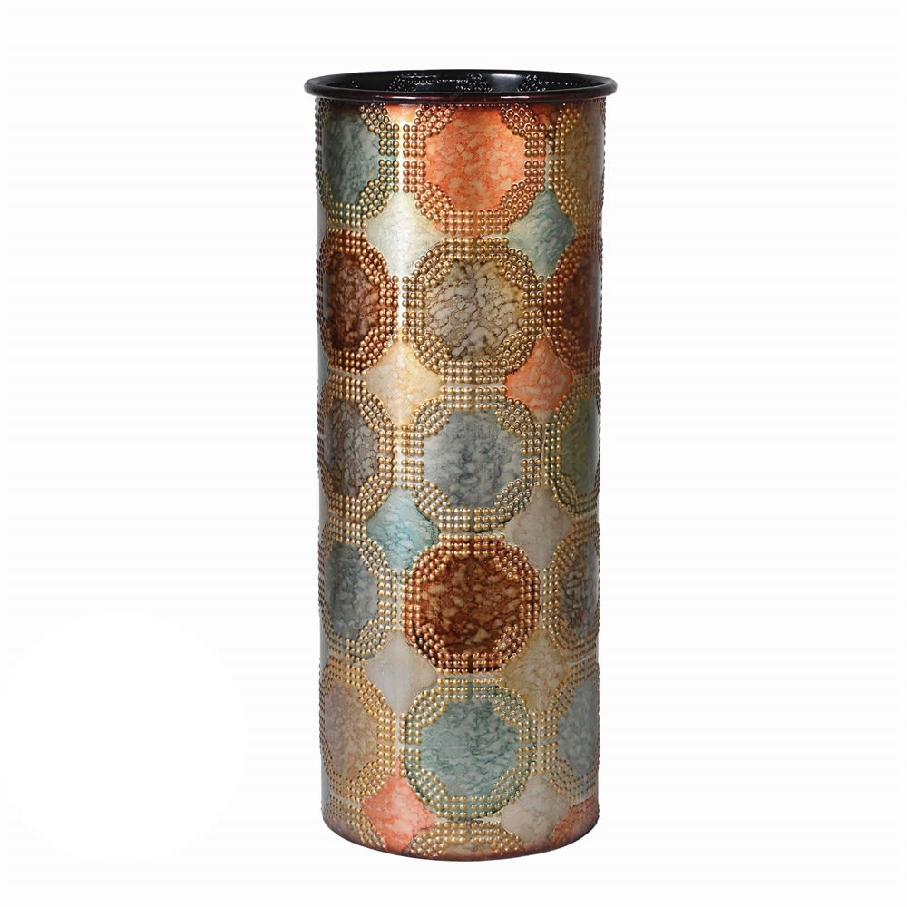Multi Colour Metal Vase