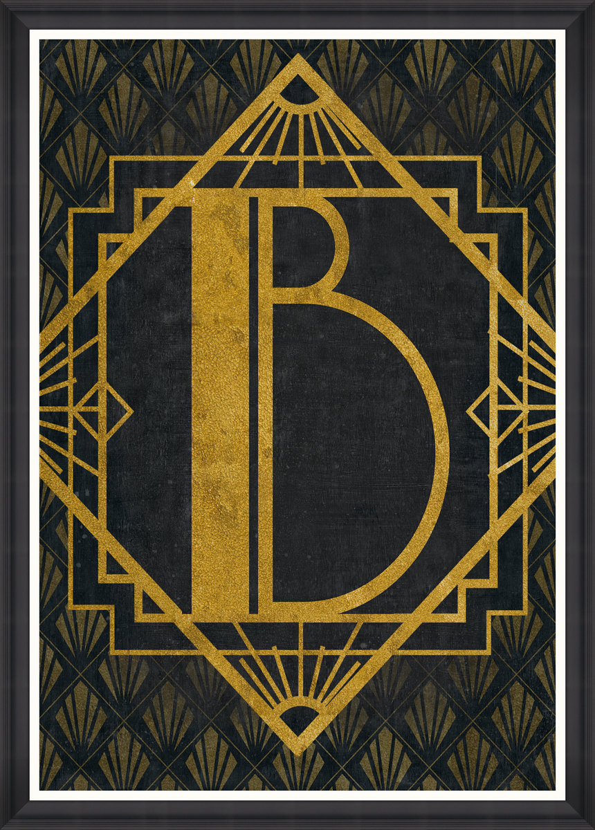 The B Framed Print