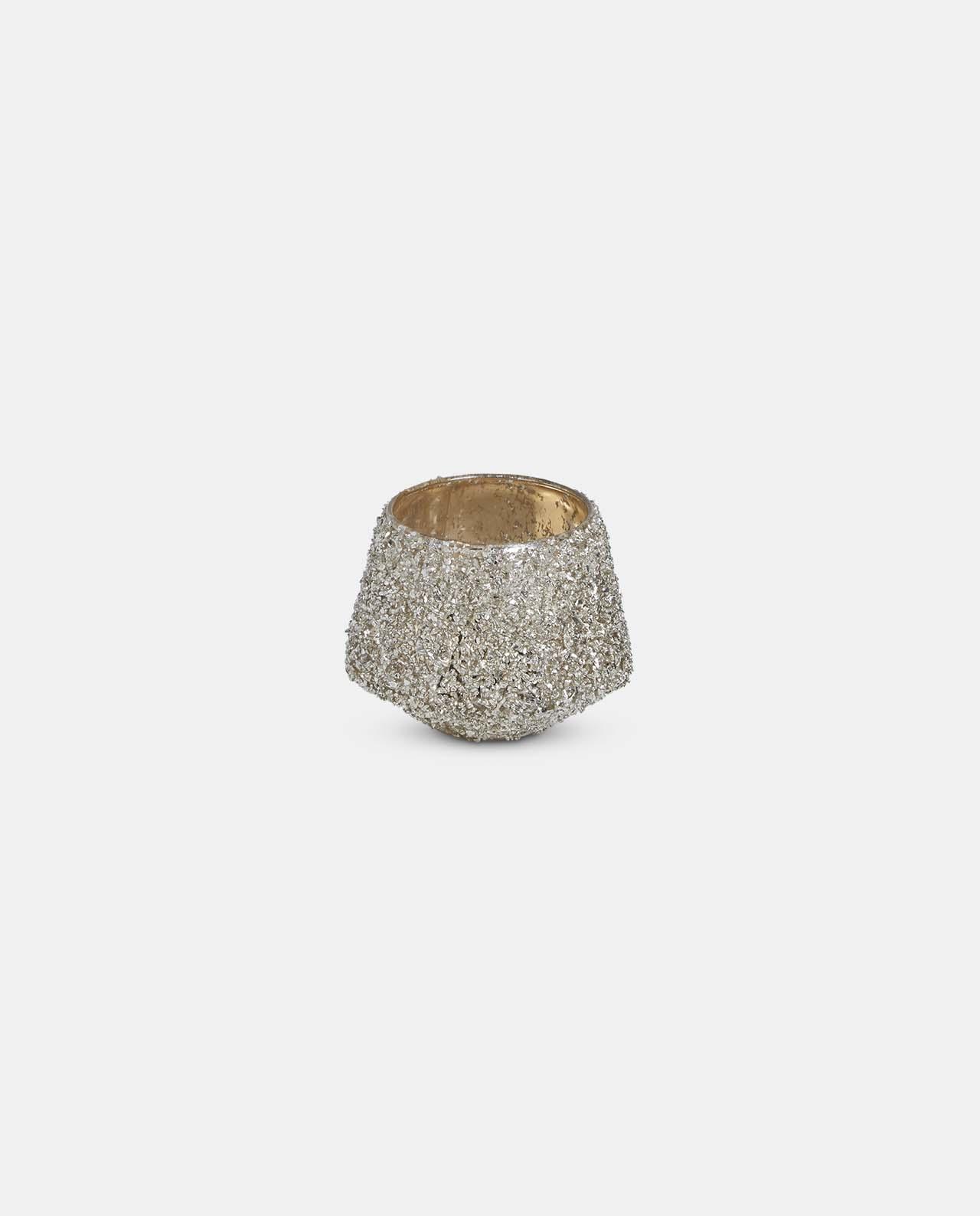 Gold Glitter Tea Light Holder Small