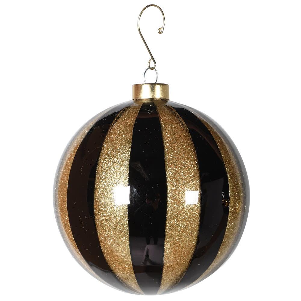 Black & Gold Stripe Bauble
