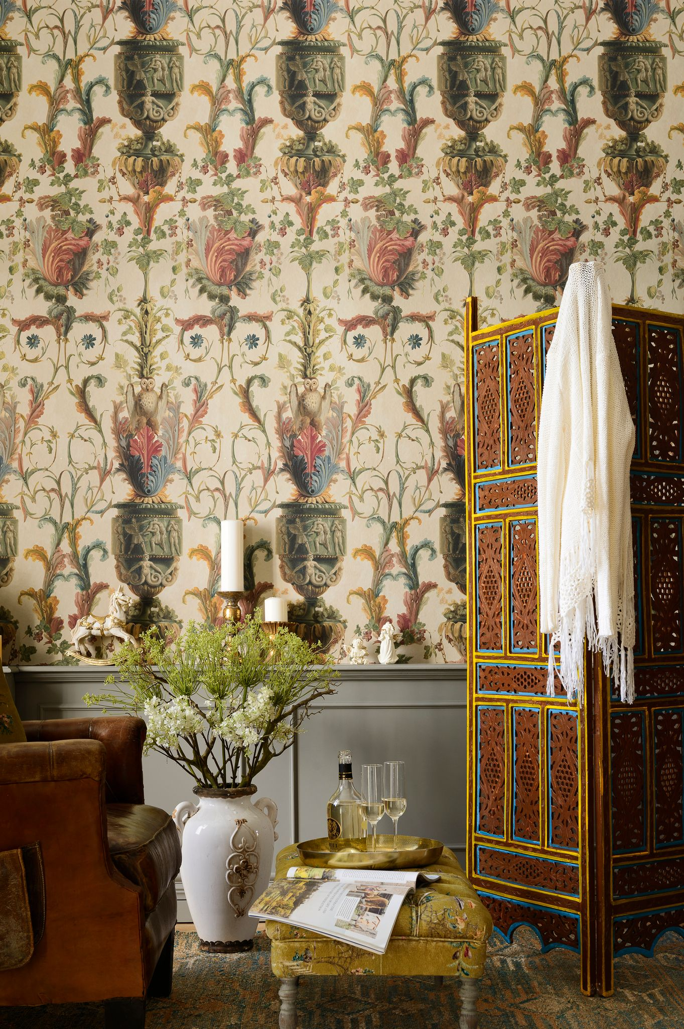 LE JARDIN SECRET Taupe Wallpaper