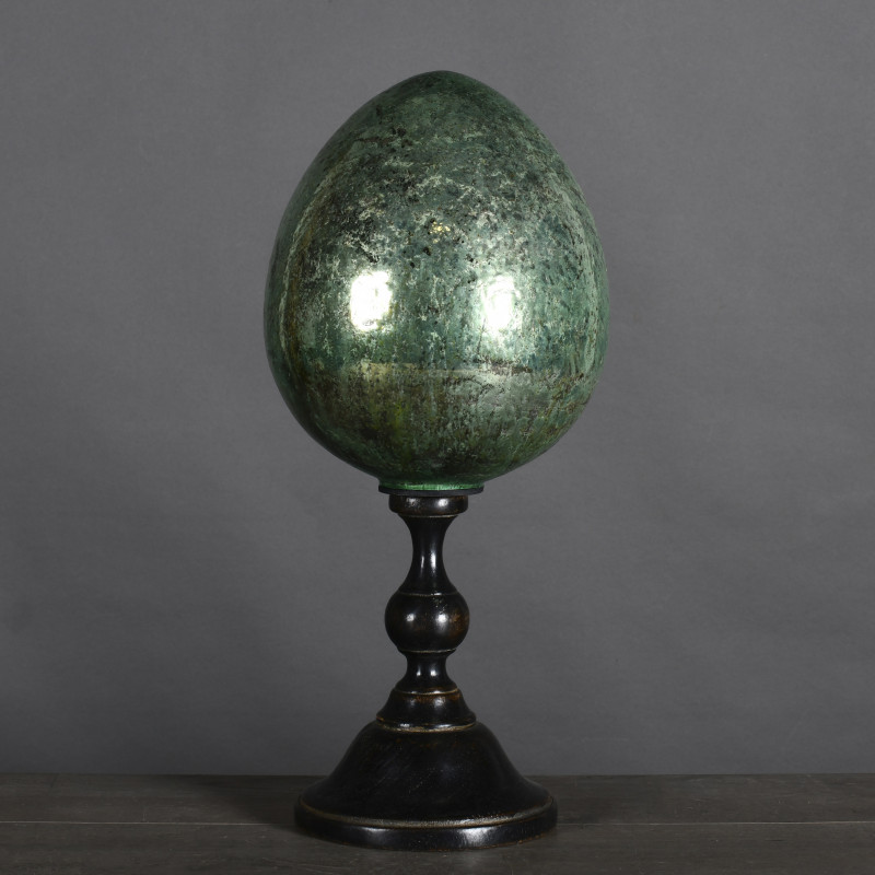 Green Egg on Stand