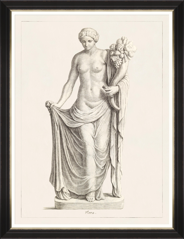 GREEK GODDESS AND GODS - FLORA Framed Print