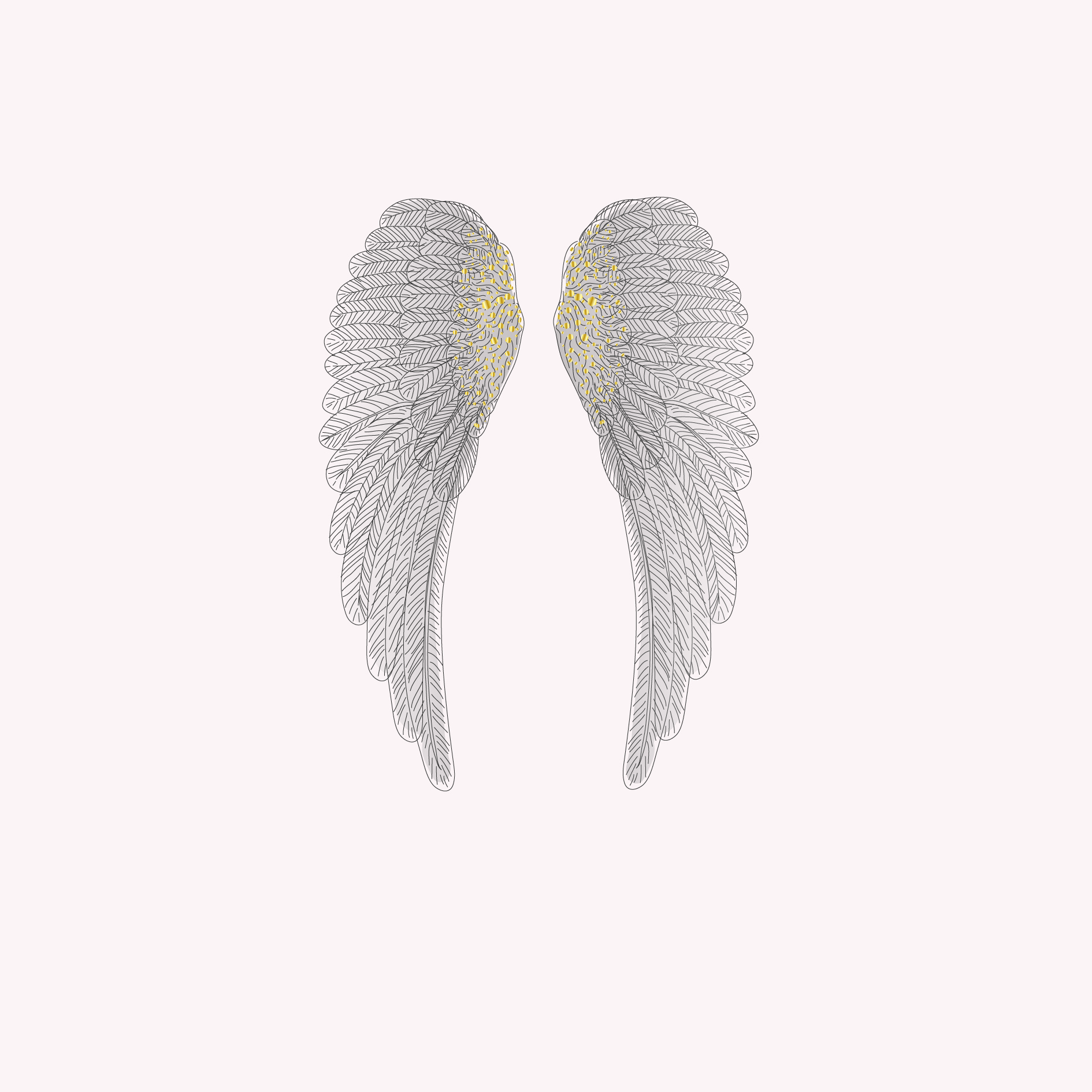 Box of 6 Angel Wing Cards