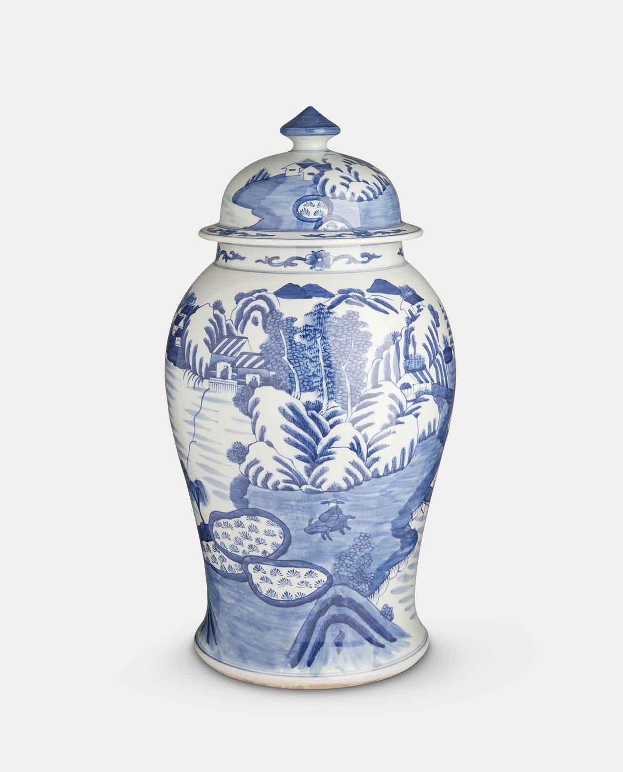 Blue & White Porcelain Jar No 2