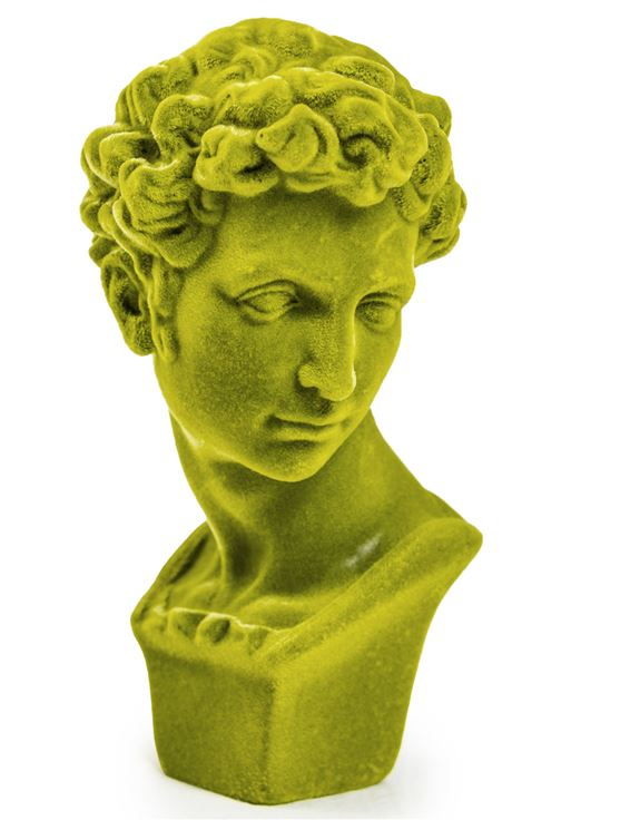 Bright Green Flock Classic Bust Figure