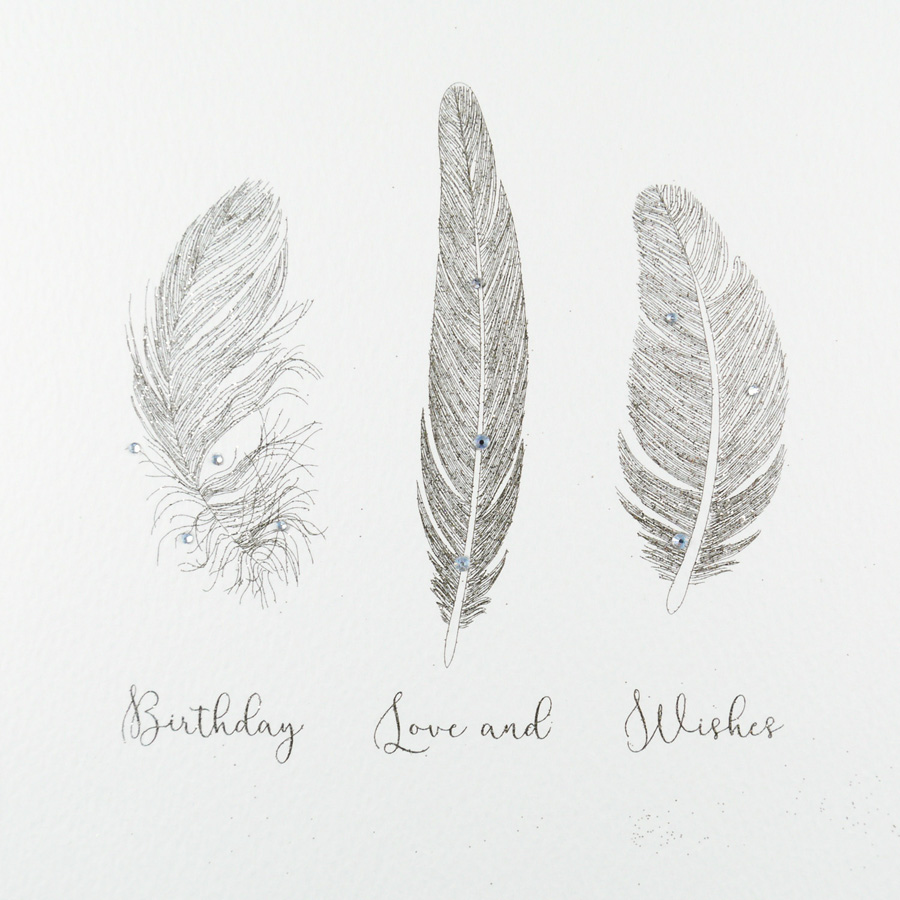 Birthday Feathers Card