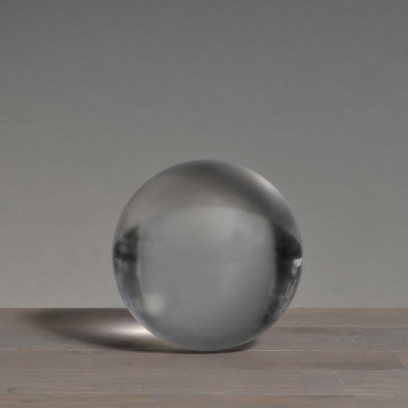 Medium Crystal Ball on Wood Stand