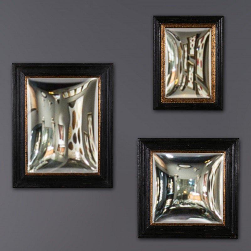 Set of 3 Square Convex Mirrors