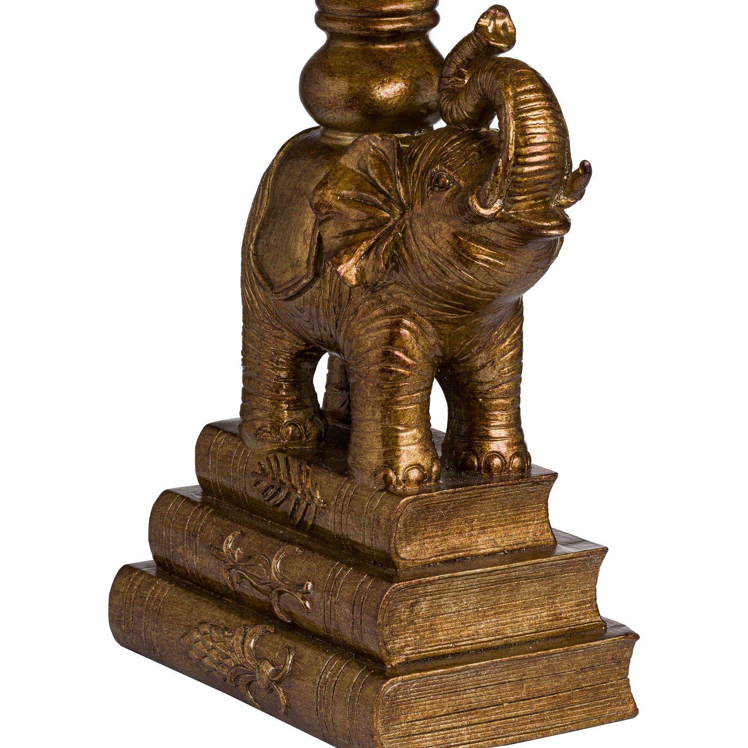 Antique Gold Elephant Table Lamp